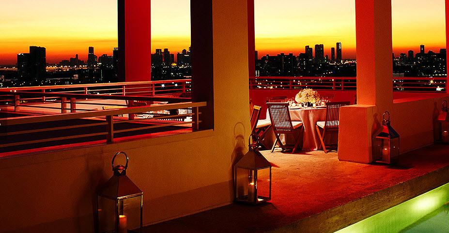 Shore Club South Beach Miami - couché de soleil penthouse