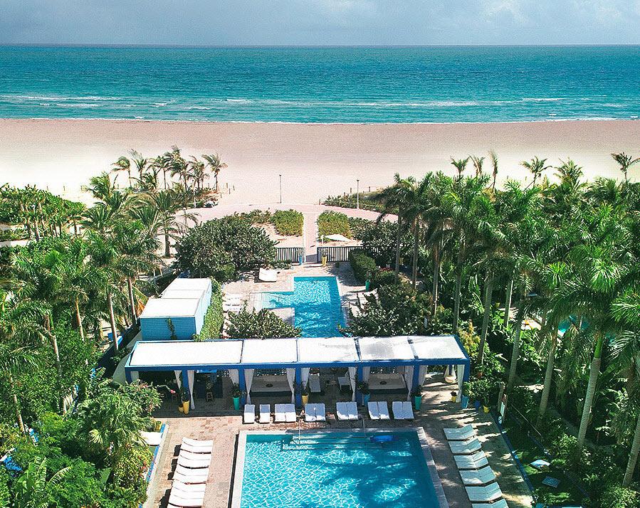 Shore Club South Beach Miami - plage et piscine