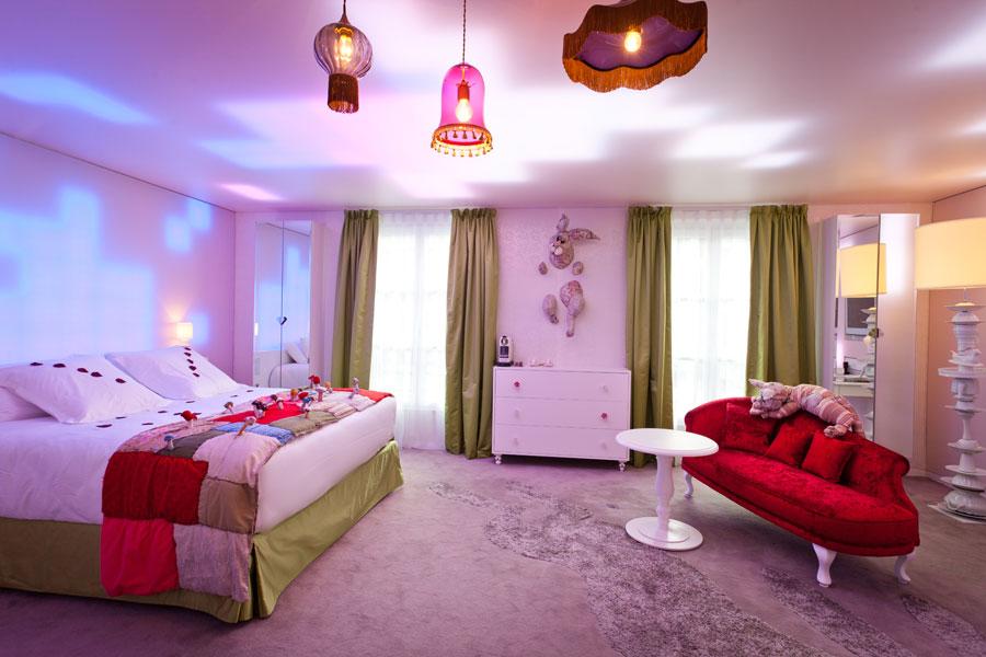 seven hotel paris boutique hotel 4 toiles design et original. Black Bedroom Furniture Sets. Home Design Ideas