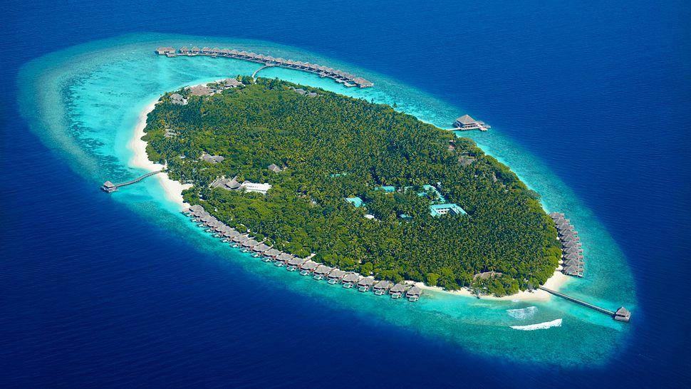 Hotel dusit thani maldives-island aerial