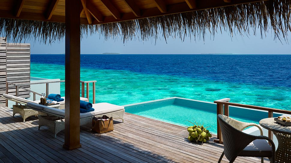 Hotel dusit thani maldives water villa with pool