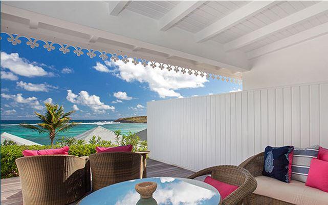 Hotel Guanahani Saint Barth - chambre vue lagon
