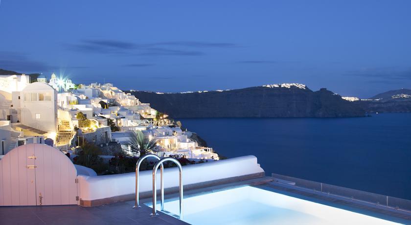 santorin - Hotel Santorini Secret - Oia piscine vue