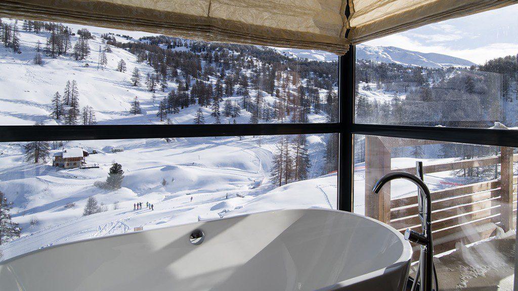 hôtel ski - hotel Nevalhaia Vars - chambre sdb