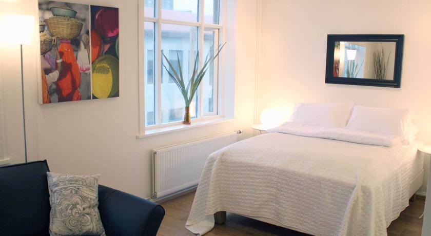 Chambre Moderne d'un appartement hotel à Reykjavik