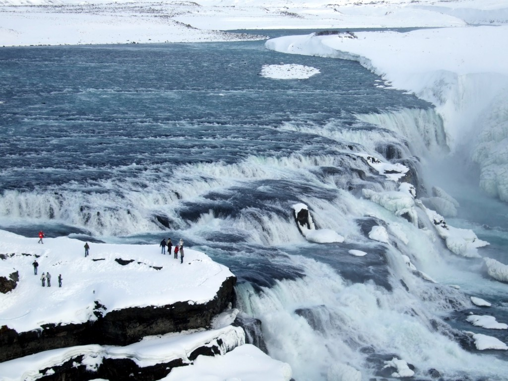 Chute de Gullfoss haute de 32 mètres en Islande