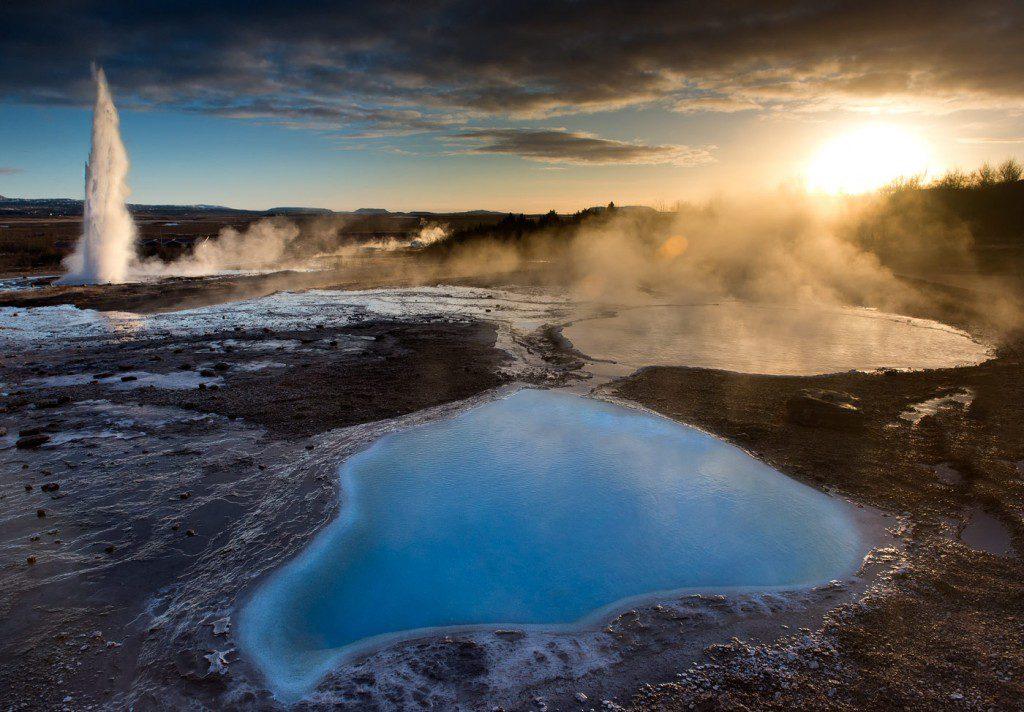 Reykjavik Islande Geysir