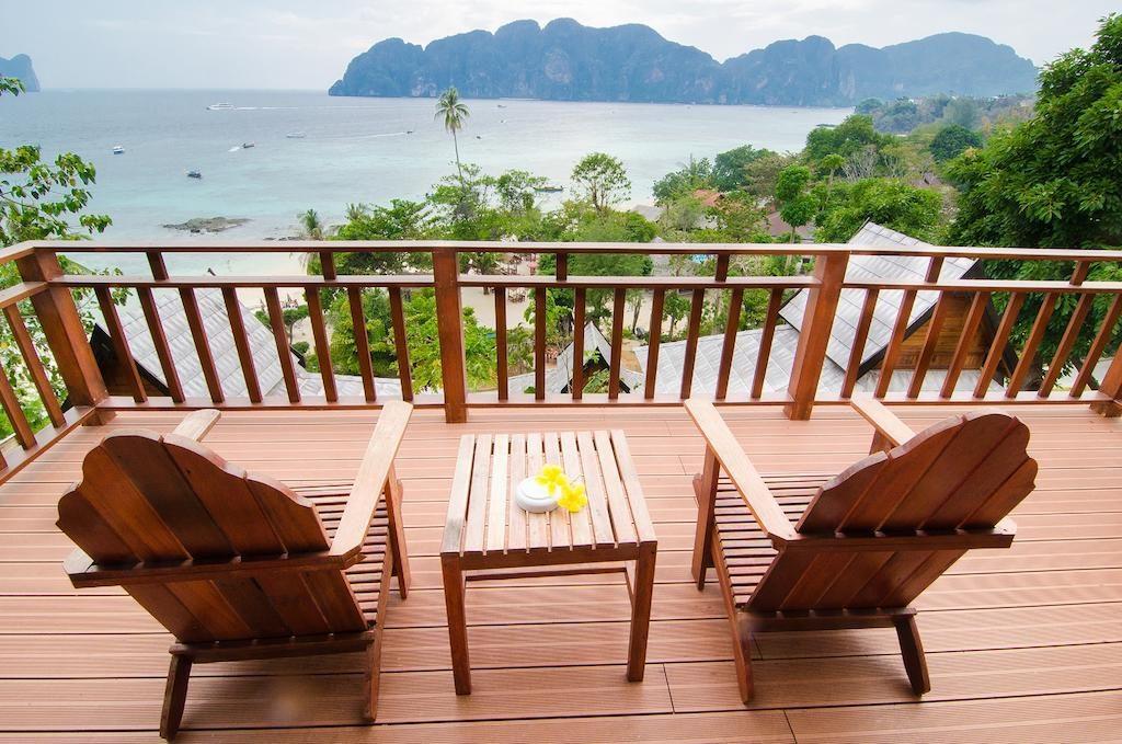 Vue de la Terrasse des chambre de l'hôtel Phi Phi Beach Resort