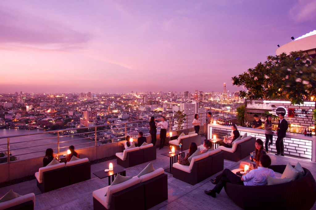 Rooftops Bars - Le Three Sixty au Millennium Hilton Bangkok