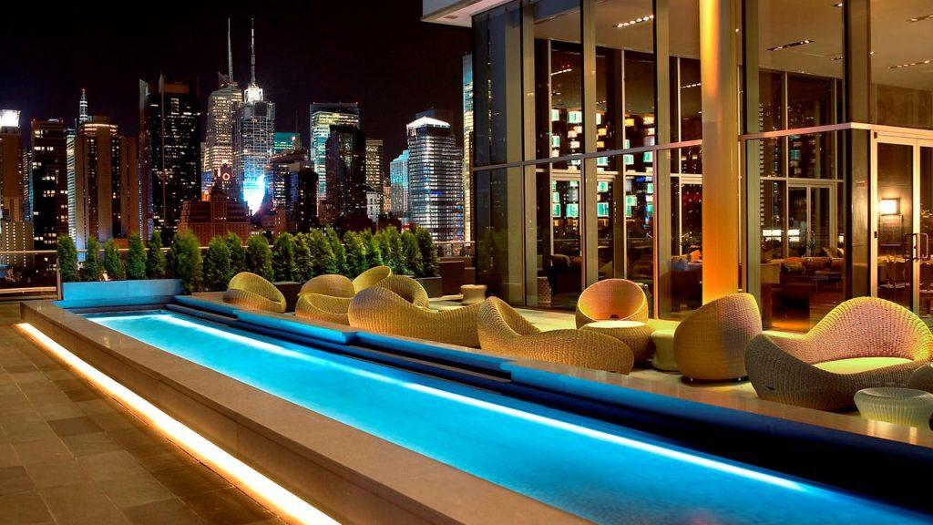 Hôtel à New York : Terrasse avec vue au Ink 48 Hotel