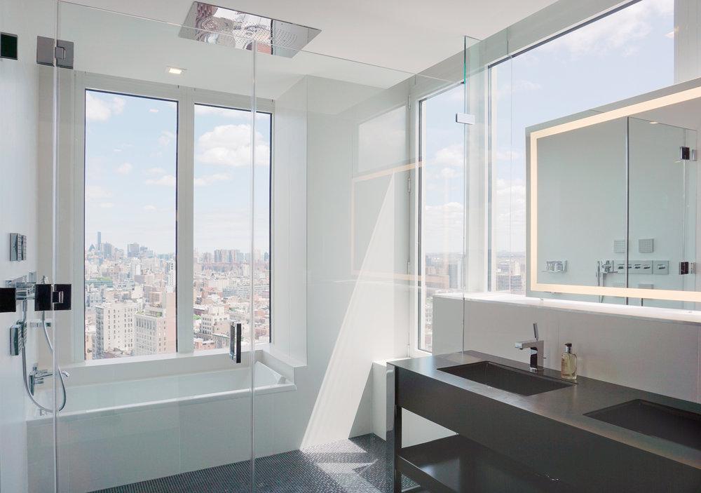 Hôtels à New York : Salle de bain du Nomo Soho