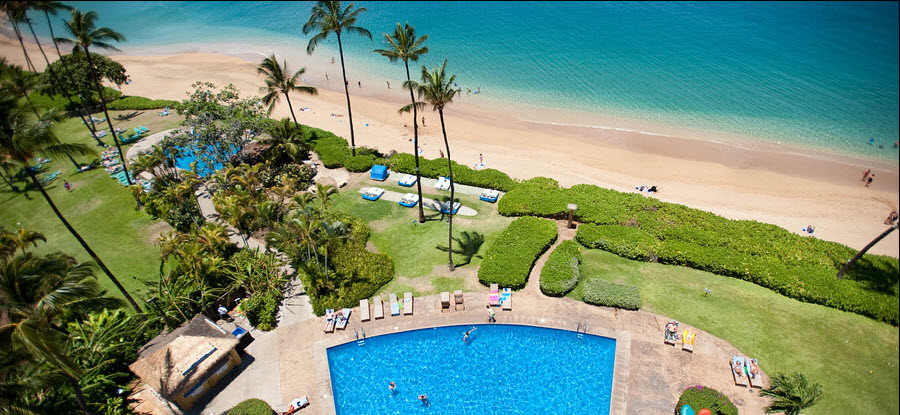 hotel lahaina - vues piscine plage