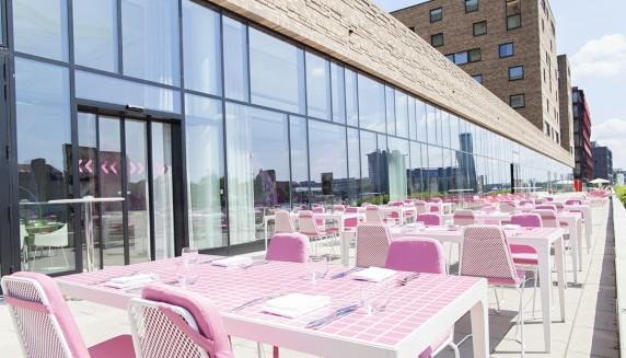 Hotel Nhow Berlin - restaurant terrasse