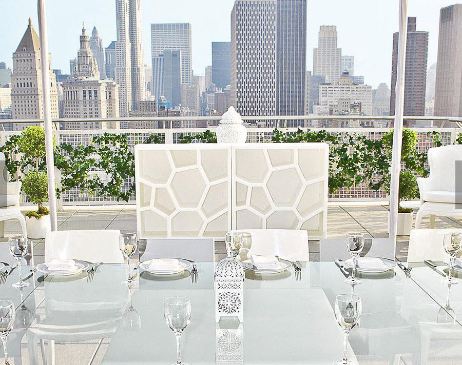 Hotel mondrian new york - Terrasse restaurant