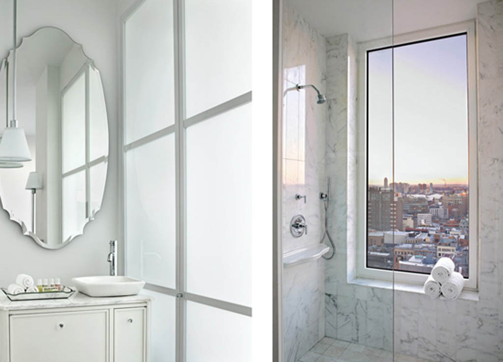 hotel mondrian new york - salle de bain
