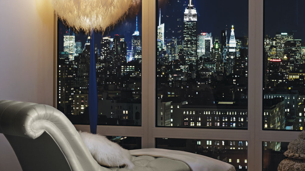 hotel mondrian new york - vue chambre depuis fauteuil