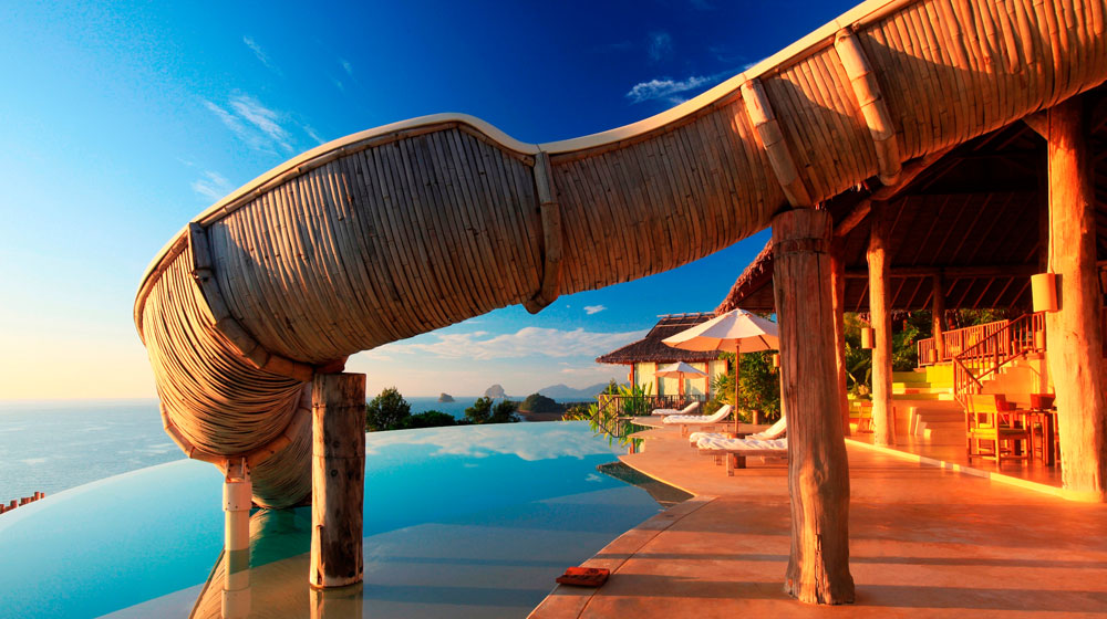 hotel six senses yao noi - piscine vue mer