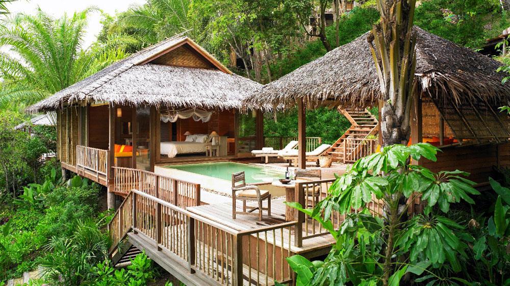 hotel six senses yao noi - villa dans la foret