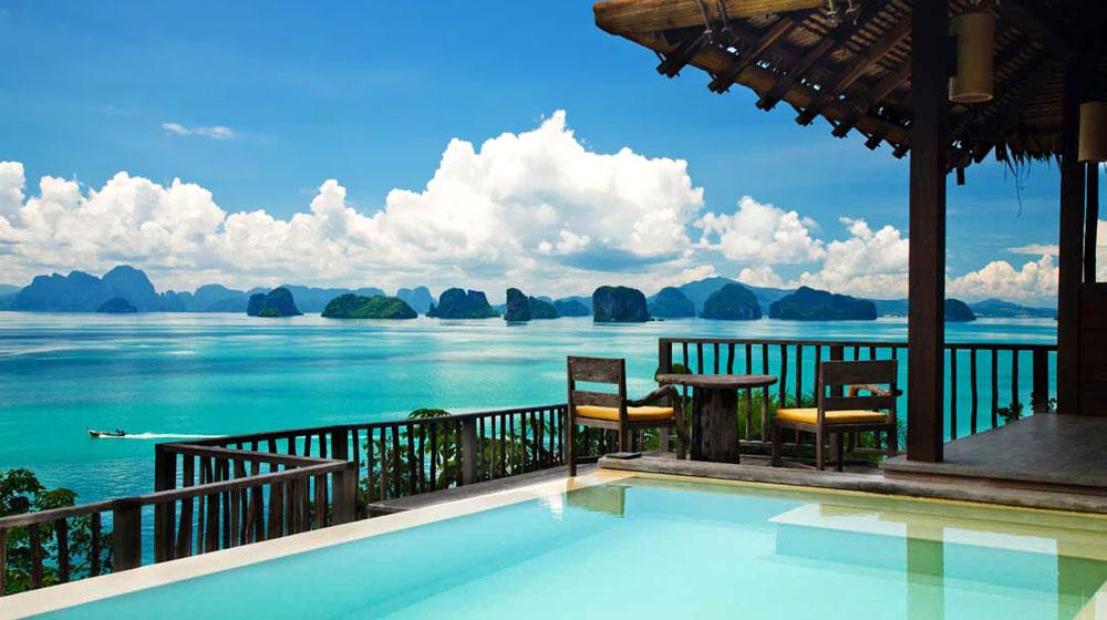 Villa vue avec piscine de l'hôtel Six senses Yao Noi