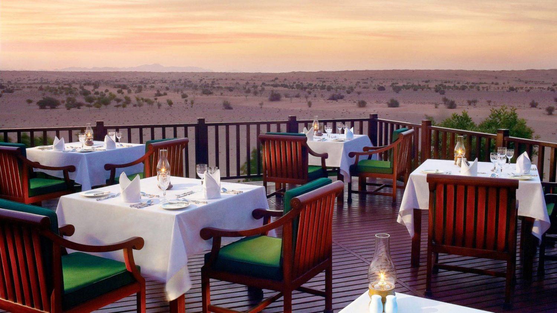 Restaurant Hôtel Al Maha aux portes de Dubaï