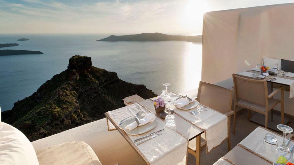 Hotel Kapari Imerovigli Grece - Restaurant
