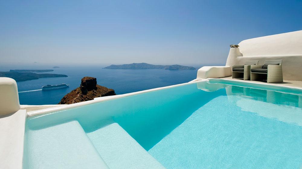 Hotel Kapari Imerovigli Grece - piscine