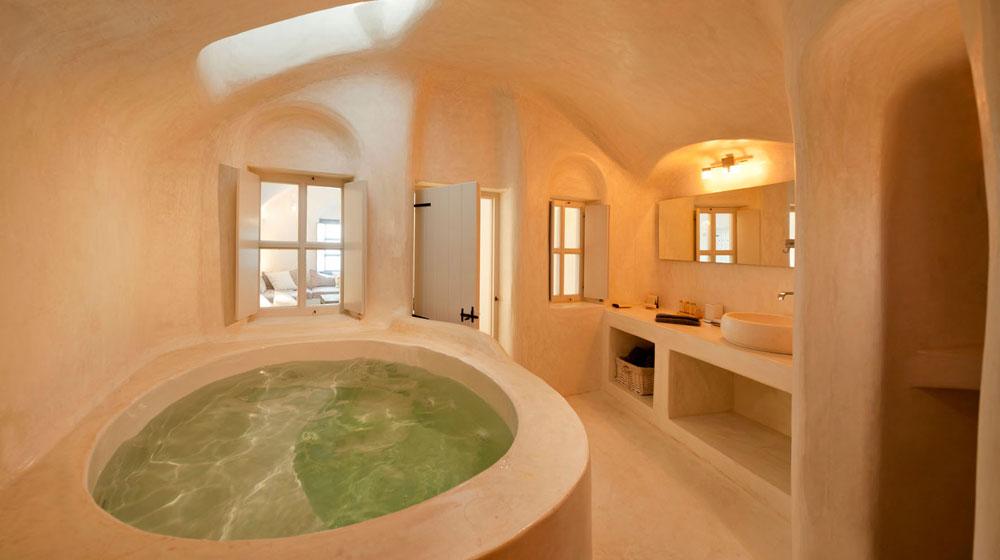 Hotel Kapari Imerovigli Grece - premium room salle de bain