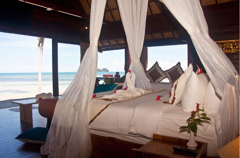 Kupu Kupu Koh Phangan Luxury Hotel - Deluxe Beach Front Pool Villa vue mer2