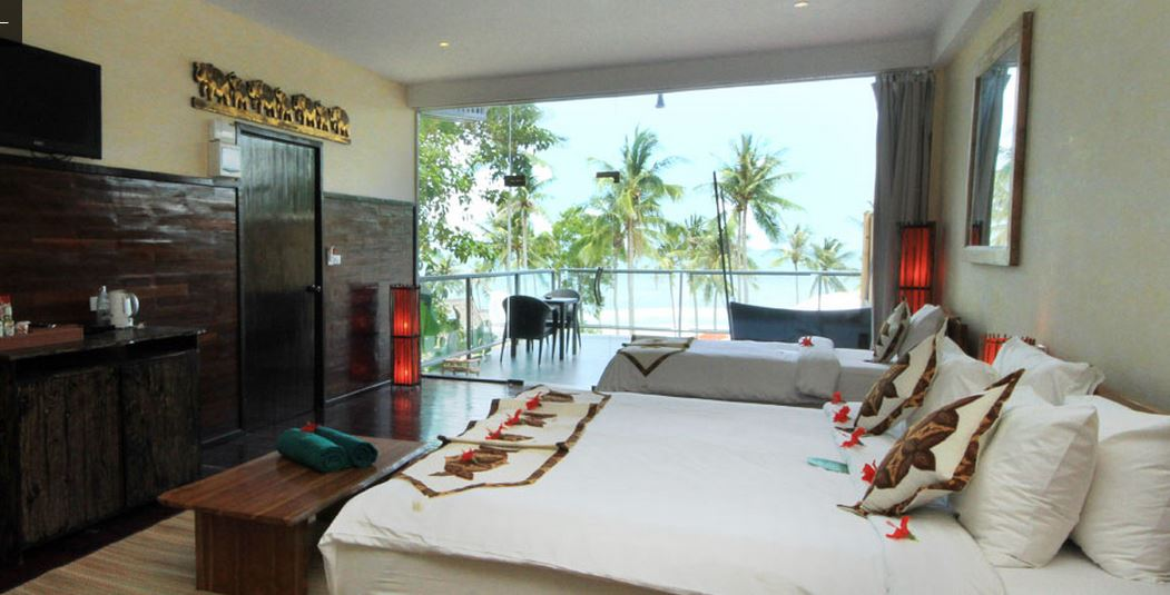 Kupu Kupu Koh Phangan Luxury Hotel - sea view room