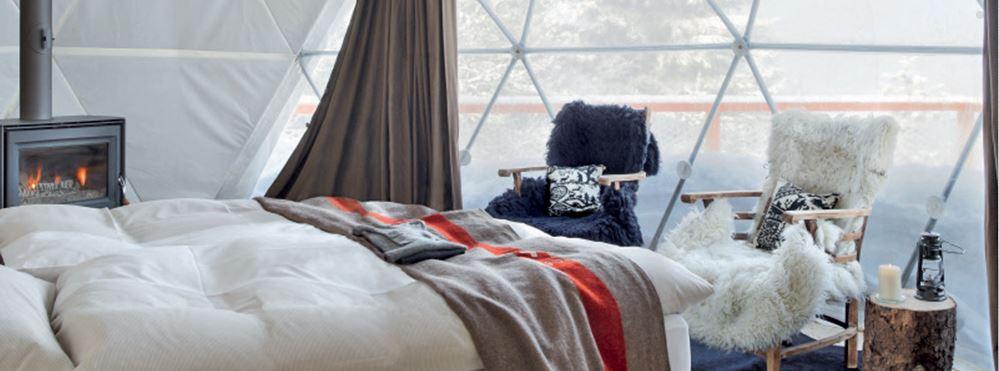 hotel whitepod chambre luxe