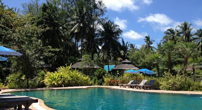 Koh Phangan - hotel Malibu Beach Bungalow piscine