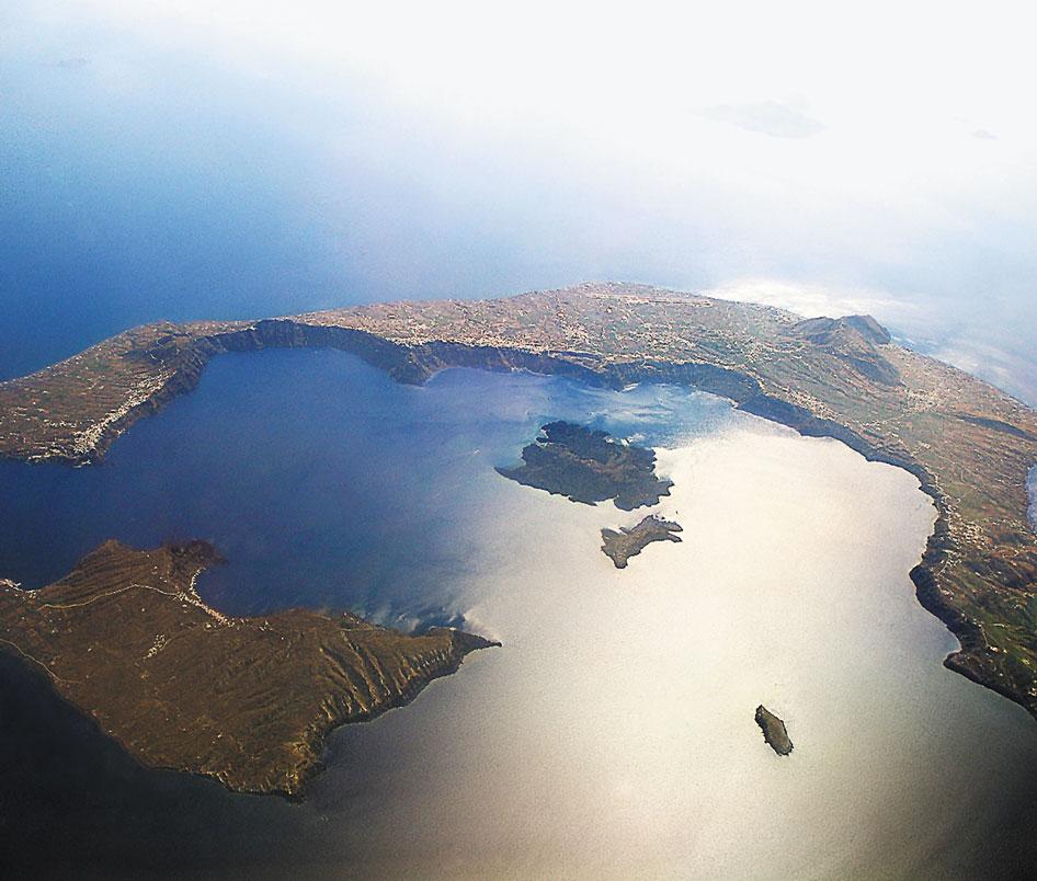 santorin caldera volcan