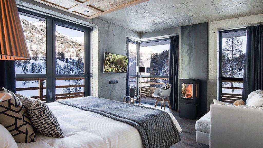 hôtel ski - hotel Nevalhaia Vars - chambre