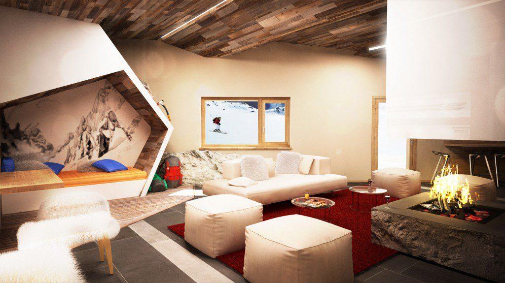 hôtel ski - hotel Pashmina val thorens - salon