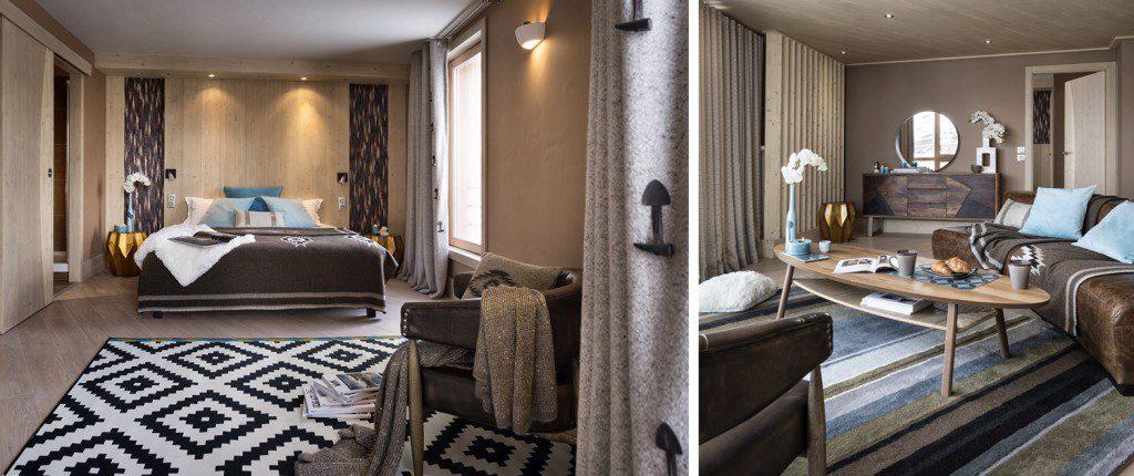 hôtel ski - hotel Taos Tignes - chambre salon