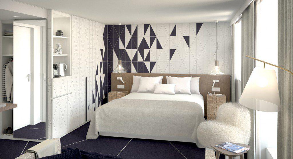 hôtel ski - hotel white courchevel - chambre