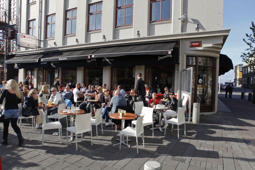 Terrase du Cafe Paris à Reykjavik