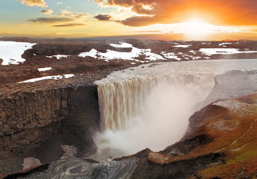 Cascade Detifoss en Islande