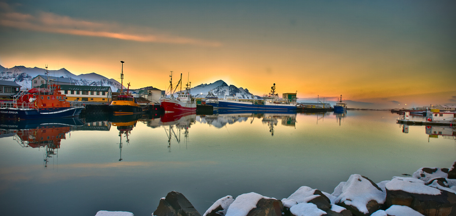 Hofn Islande