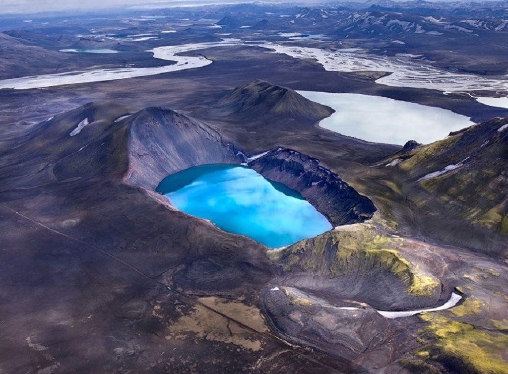 Volcan Krafla et son cratere Viti en Islande