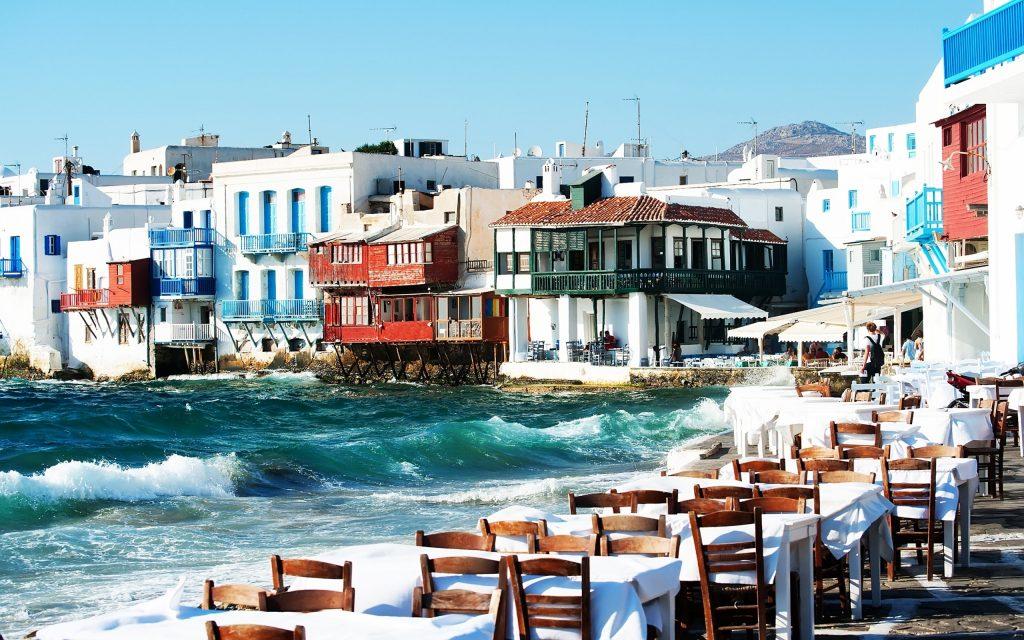 Quartier de la Petite Venise à Mykonos