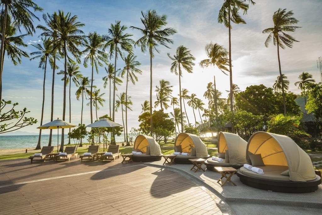 Koh Phi Phi - Hotel Phi Phi Island Village Beach Resort and Spa Exterieur Plage