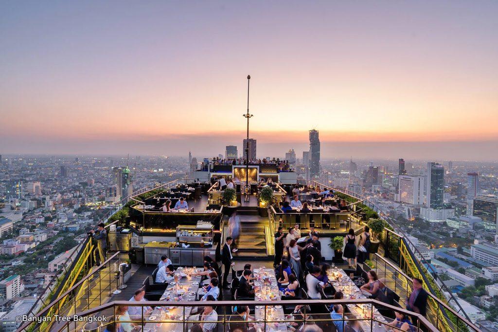 Rooftops Bars Bangkok Le Vertigo Banyan Tree