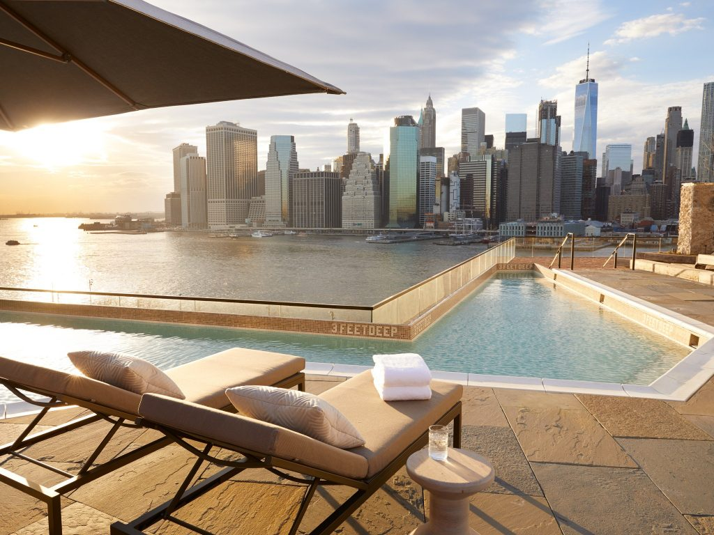 Hôtel à New York - 1 brooklyn Bridge - Vue terrasse