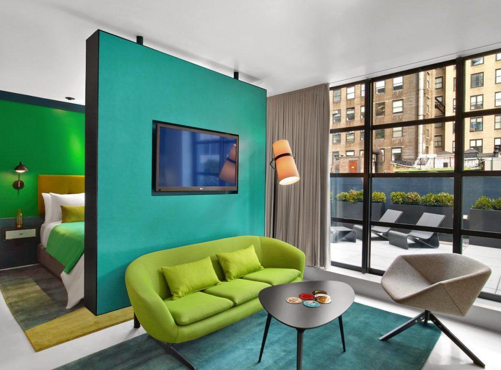 Hôtel à New York - The William - Chambre salon et terrasse