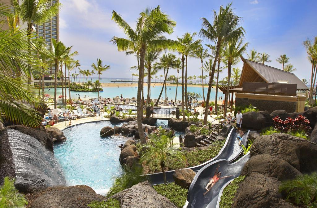 Les 5 meilleurs hôtels d'Oahu à Hawaii - Hôtel Grand Waikikian by Hilton Grand Vacations Club - Piscine