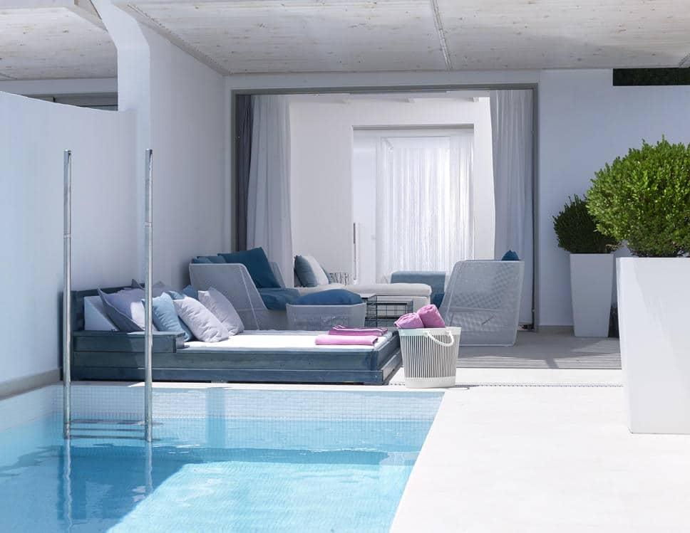 les 10 plus beaux hôtels de Grèce - Hôtel Proteas Blu Resort Samos - chambre avec piscine