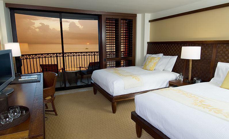 Les 5 plus beaux hôtels de Maui Hawaii - Hôtel Royal Lahaina Resort - Chambre