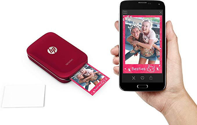 HP Sprocket Imprimante Photo Portable Bluetooth Impression Couleur sans Encre