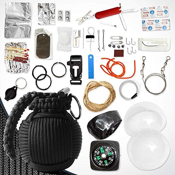 Kit d'urgence en forme de grenade - Equipement de survie pour la randonnée
